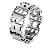 Men Stainless Steel Multifunction Bracelet Bangle Multitool Multi Tool Bracelets Strap Bangle Multi Function Screwdriver