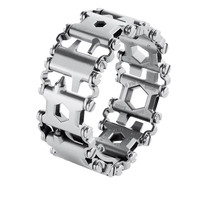 Stainless Steel Multifunction Bracelet Bangle Multitool Bracelet Bangle Multi Tool Bracelets Strap Multi Function Screwdriver