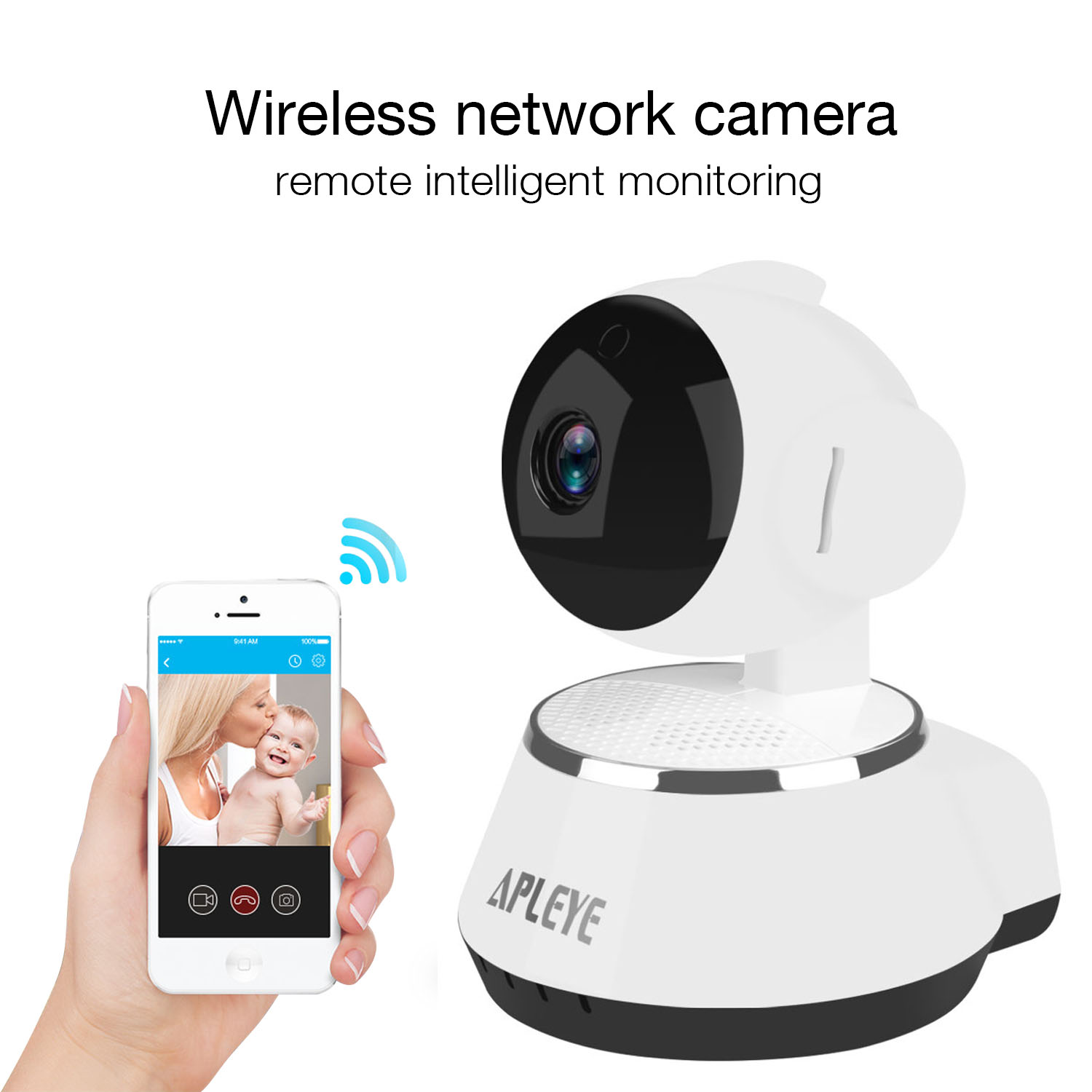 Apleye mini wifi ip camera ptz night vision cctv 1080p 20mp p2p 1x hd ip camera 1x dc adapter 1x operation manual 1x install attachment publicscrutiny Images