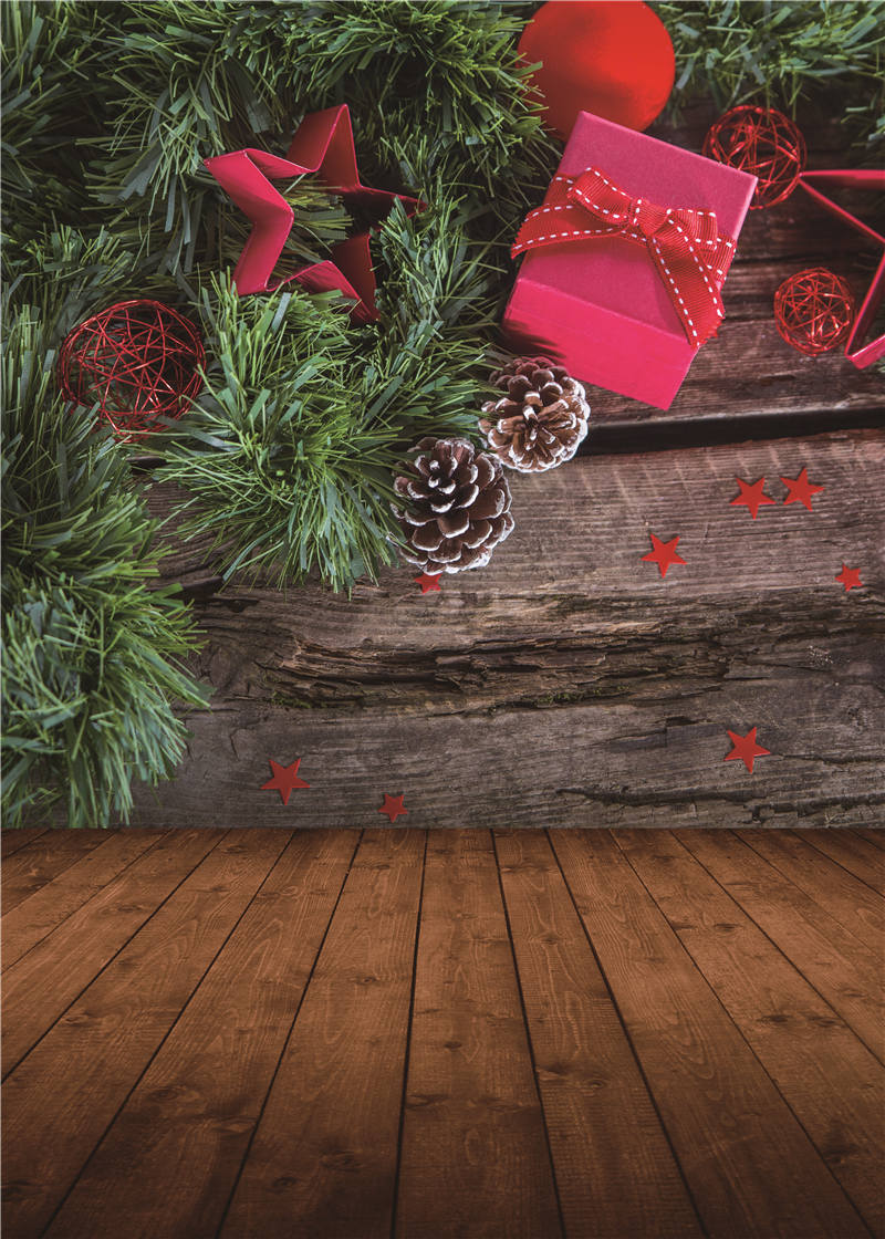 3x5ft flower wood wall vinyl background photography photo studio props - Merry Christmas Photography Backdrops Wooden Floor Photo Studio Props Retro Background Vinyl 5x7ft Or 3x5ft Jiesdx051