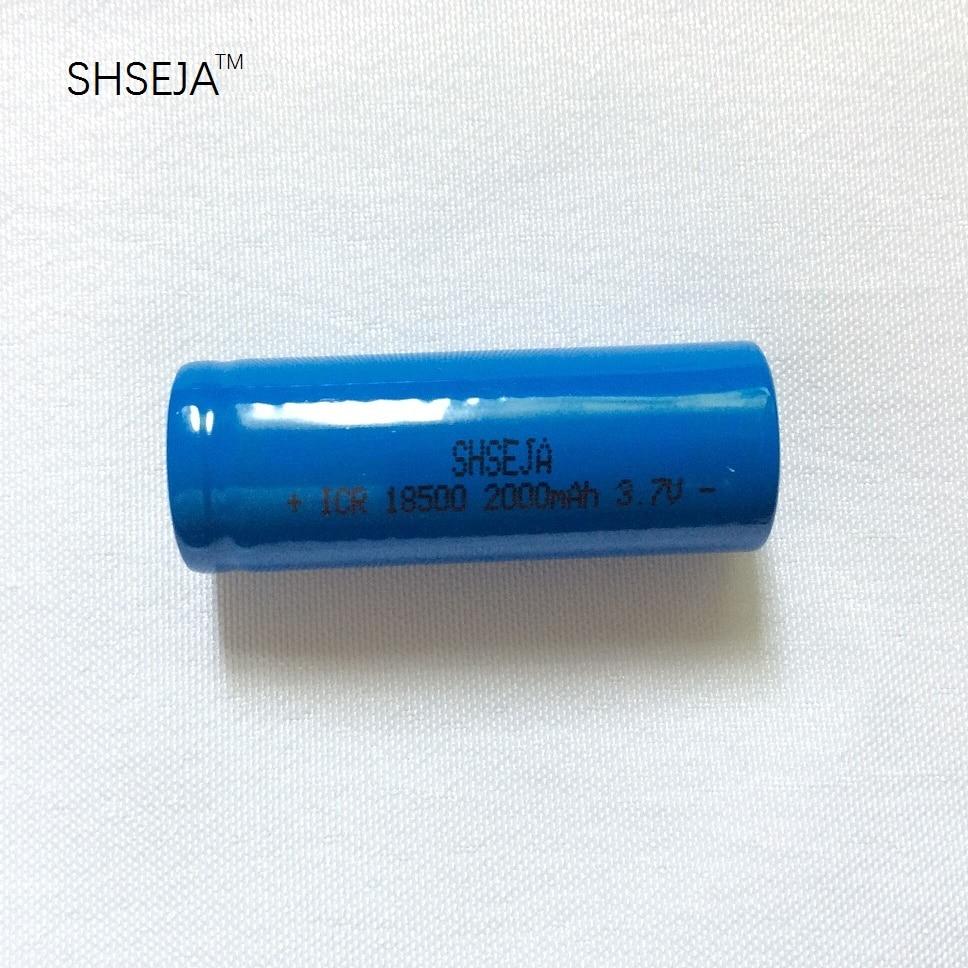 Bateria recarregável de lítio, 18500 v 3.7 mah bateria recarregável 2000 bateria recarregavel baterias de íon de lítio