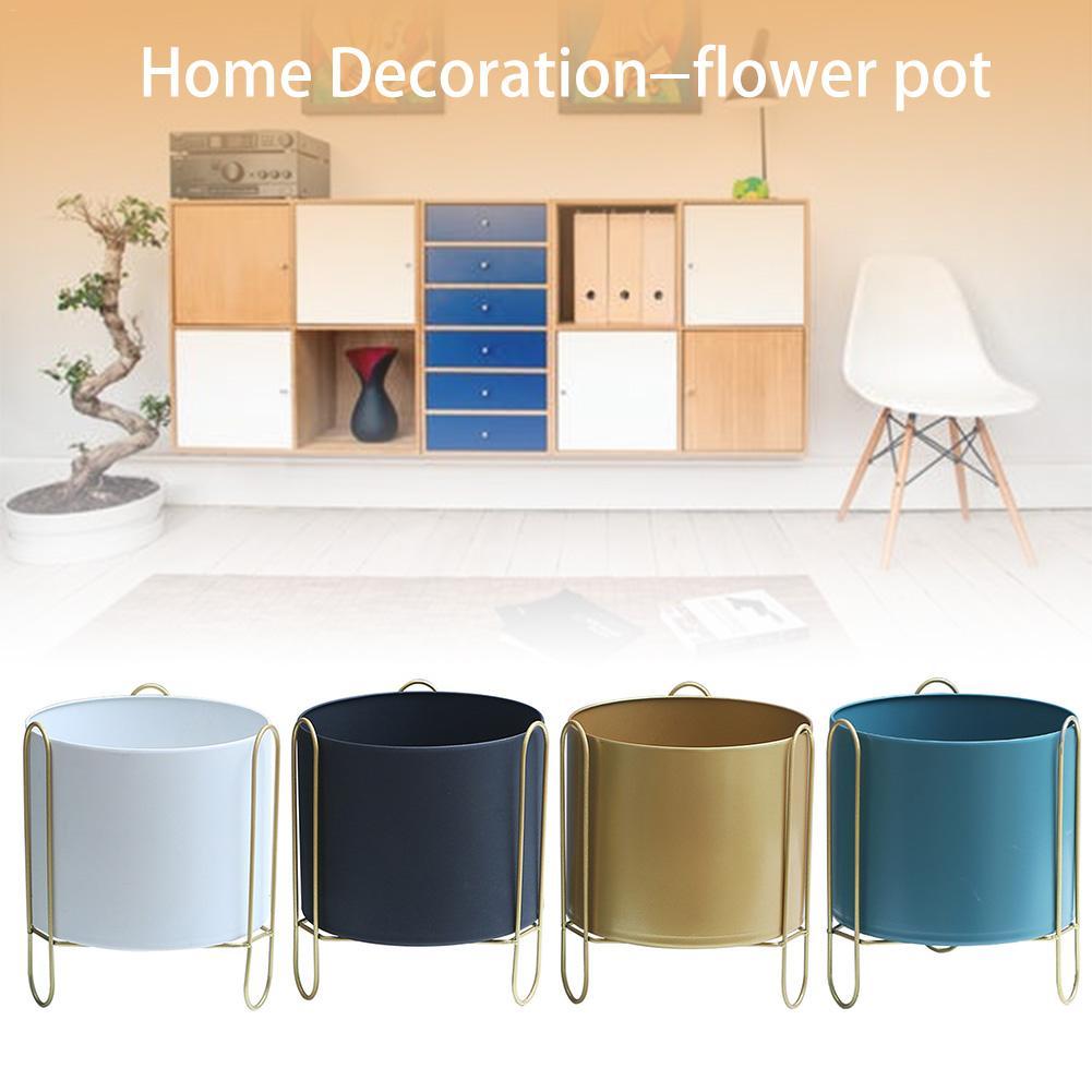 Vase en fer forgé support de fleur porte-pot décoration de la maison