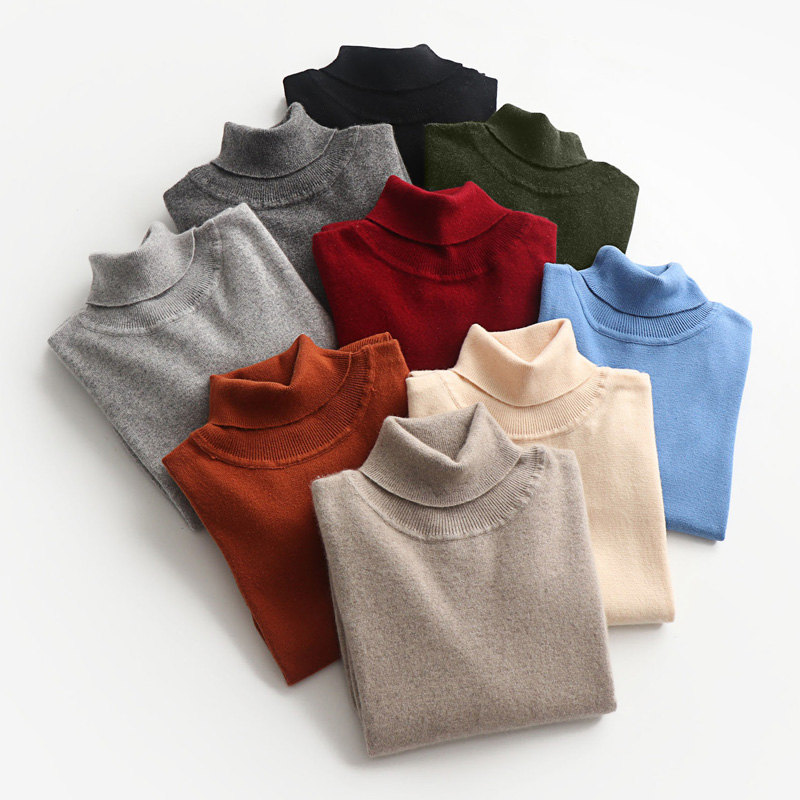 Image 3 - Man Sweaters Cashmere and Wool Knitted Jumpers 11Colors Hot Sale Winter Fashion Turtleneck Pullover Men Woolen Clothes Male TopsPullovers   -