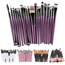 20pcs 11 Color Professional Makeup Brushes Set for Eye Face Lip Eye Shadow Foundation Eyebrow Powder Makeup Brush Cosmetic Tool