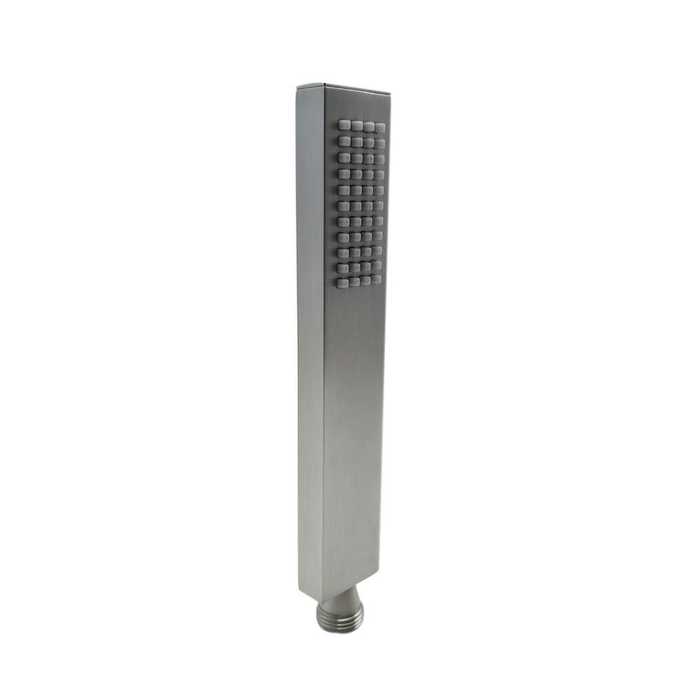High Quality Brass Square Brass Brushed Nickel Hand Held Shower Suitable For Bathroom