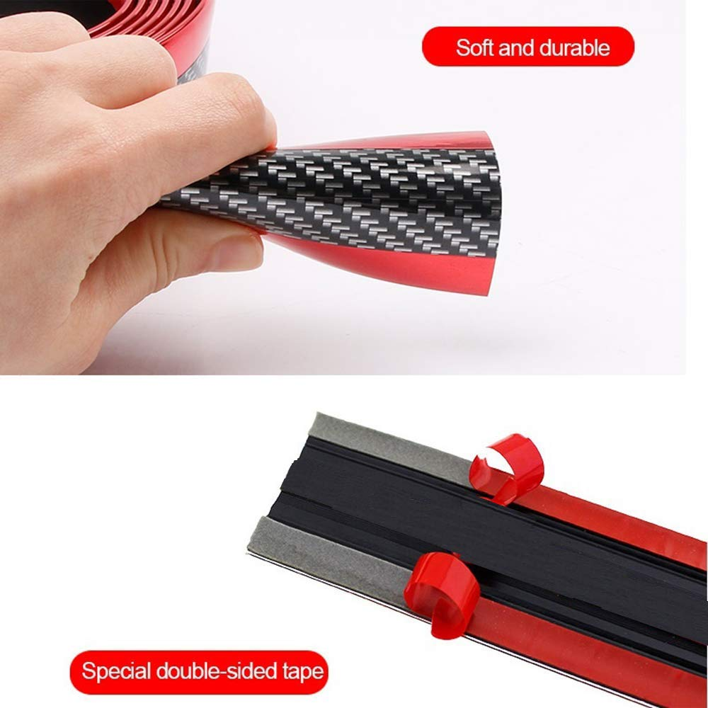 Image 4 - Carbon Fiber Car Anti Scratch Sticker Car Sill Strip Stickers For Automobiles Bumper Scuff  Protection Strip Auto Accessories-in Car Stickers from Automobiles & Motorcycles
