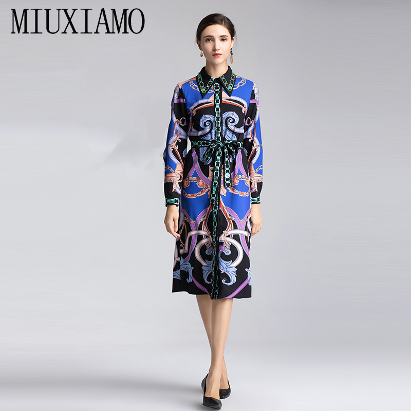 28dbe750a1c9e9 Hohe Mit Blume Qualität Frauen Eleghant Miuximao Bilt Luxuriöse Diamanten  Casual Frühling Drucken 2019 Sommeramp  Vestido Kleid jqcA354LRS