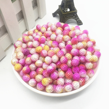 New 50pcs 8mm Two-tone Round Pearl Plastic Beads Lot Craft Jewelry Making DIY Wholesale#01