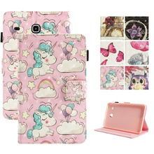 3D cute painting PU Leather Tablet Cover for Coque Samsung Galaxy Tab E 8.0 SM-T377 Case for Fundas Samsung Tab E 8.0 T377V T375 цена