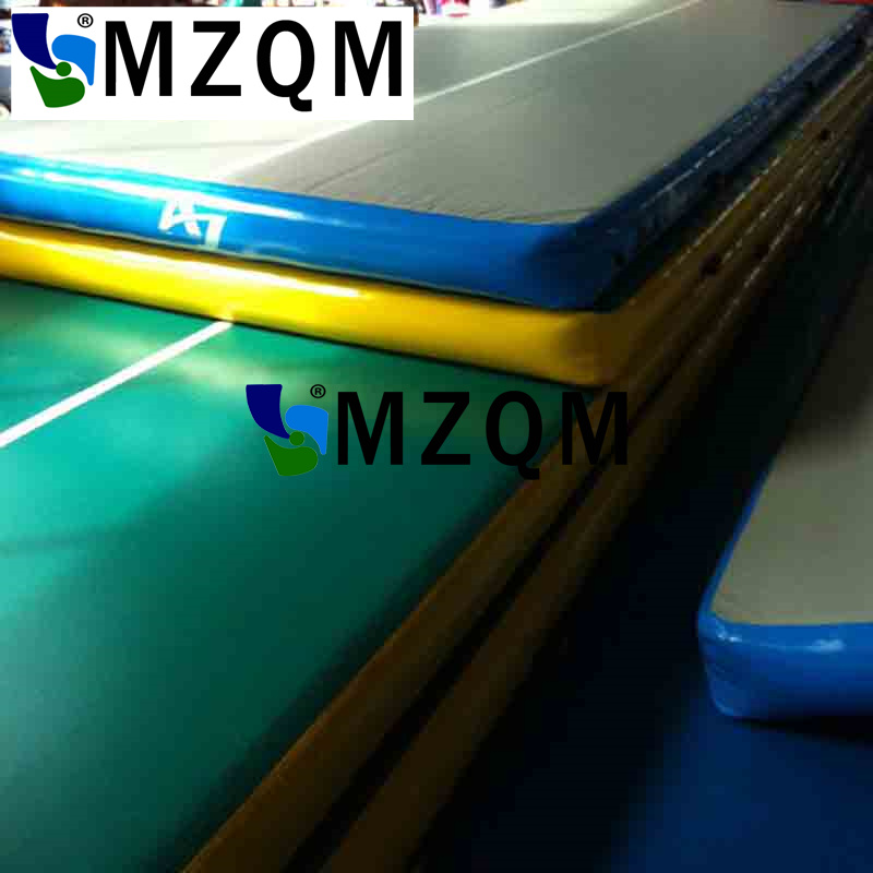 MZQM Free shipping 4*1m inflatable air track for home use (Free pump + repair kits) free shipping 10 2m inflatable air track inflatable air track inflatable gym mat trampoline inflatable gym mat