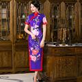 Shanghai Story china dress Qipao Faux Silk Cheongsam chinese traditional dress Long Qipao dress