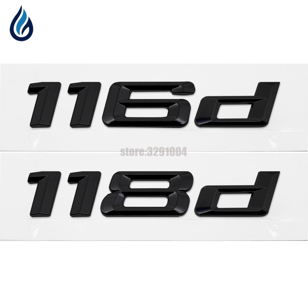 116d 118d Car Emblem Rear Number Letter Sticker For BMW 1 Series E87 E81 E82 E87 E88 F20 F21 Car Styling Accessories car styling trunk lid rear emblem badge chrome letters sticker 125i 128i 130i 135i for bmw 1 series f20 f21 e81 e82 e87 e88