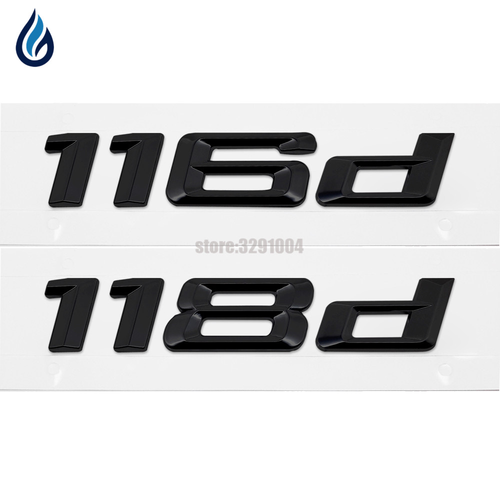 116d 118d Car Emblem Rear Number Letter Sticker For BMW 1 Series E87 E81 E82 E87 E88 F20 F21 Car Styling Accessories image