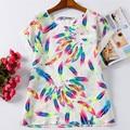 Estilo de verano Mujer Camisetas Blanco XXXL 4XL 6XL Tallas grandes Blusas Feminina Mujer Top Tee Ropa Barata de China Camiseta de Las Mujeres Ocasionales
