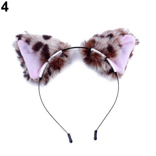 Новое поступление, Милые Пушистые кошачьи лисичьи уши повязка с веревкой, повязка для волос, вечерние