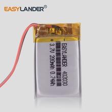37V 200mAh Li ion Polymer battery Replacement For Fitbit Blaze 402030 bracelet MP3 Smart Speaker