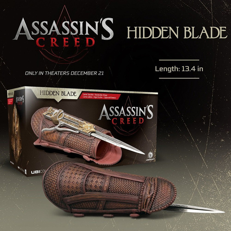 2016 Movie Assassin's Creed Hidden Blade Callum Lynch Cosplay Weapon PVC Action Figure Collectible Model Toy 1:1