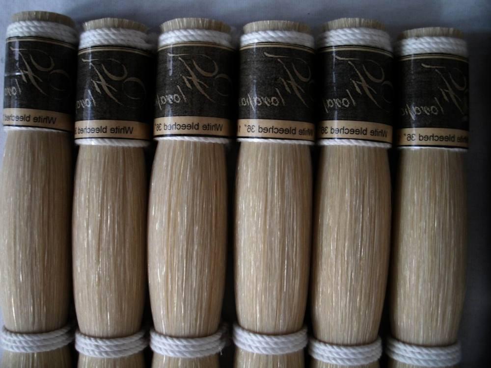 30'' 250g No.A Mongolia Nature violin bow hair pearl 250g