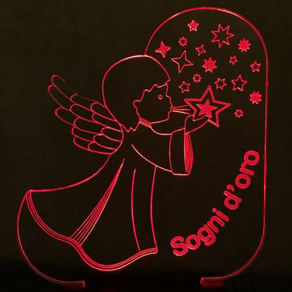 7 цветов Изменение романтический Usb 3D визуальный ангелы дует звезды Форма светодиодный ночник малыш сенсорная кнопка Lampara настольная лампа ...
