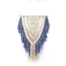 Handmade Cotton Tassels Macrame Home Hanging Decorations Bohemian Wall Tapestry Ceremony Gift Nordic Style Wedding Decoration