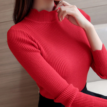 Sexy Elastic Turtleneck Sweater 6 Colors