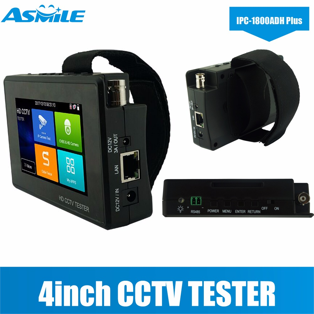 Portable Wrist 4 Inch Touch Screen 8MP TVI/4MP CVI/5MP AHD/4K H.265 IP /CVBS HD Cctv Tester Wrist Design, Portable
