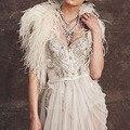 Luxury Warm Winter Ostrich Feather Bridal Jackets 2017 Women Shrug Wedding Coats Boleros Cape Wedding Accessories B163 in Stock