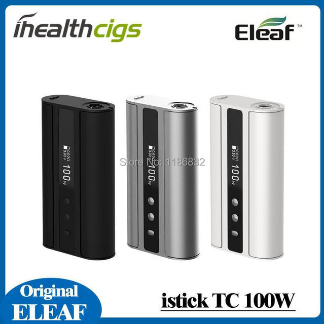 In stock 100% Original eleaf istick TC 100W battery mod istick 100w FIRMWARE UPGRADABLE control system with inde duo tank