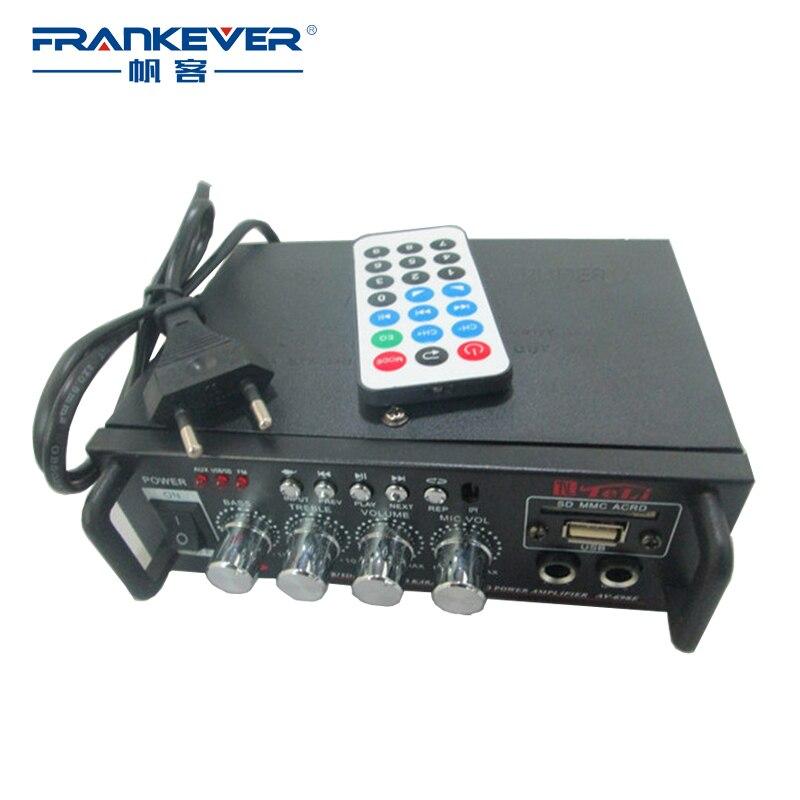 Frankever DC12V-AC220V Stéréo De Voiture Audio Amplificateurs 2.1 Canaux Haut-Parleur Mini HiFi Stéréo Amplificateur Pour Moto Voiture AK-698E