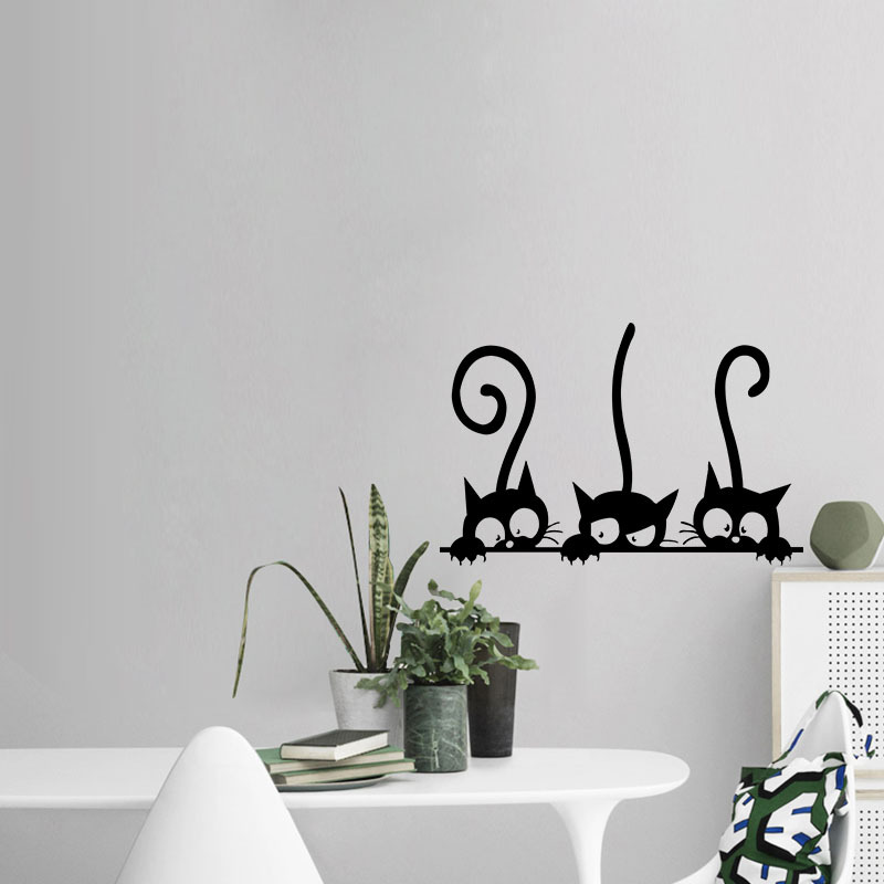 Lovely Three Black Cat DIY Wall Stickers Lovely Three Black Cat DIY Wall Stickers HTB1YIuiQpXXXXbVXVXXq6xXFXXXI