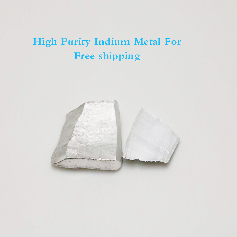 Hot Selling Indium Metal 50Grams 99.99% Pure Indium Metal Free Shipping hot selling 100% pure
