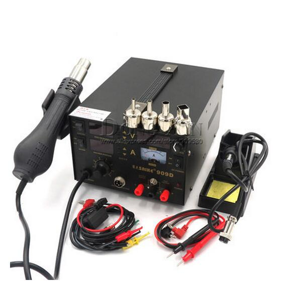 Free shipping Saike 909D 3 in 1 Soldering Station Heat Air Gun Solder Iron110V or 220V Saike 909D  3 in 1 Soldering Station  цены