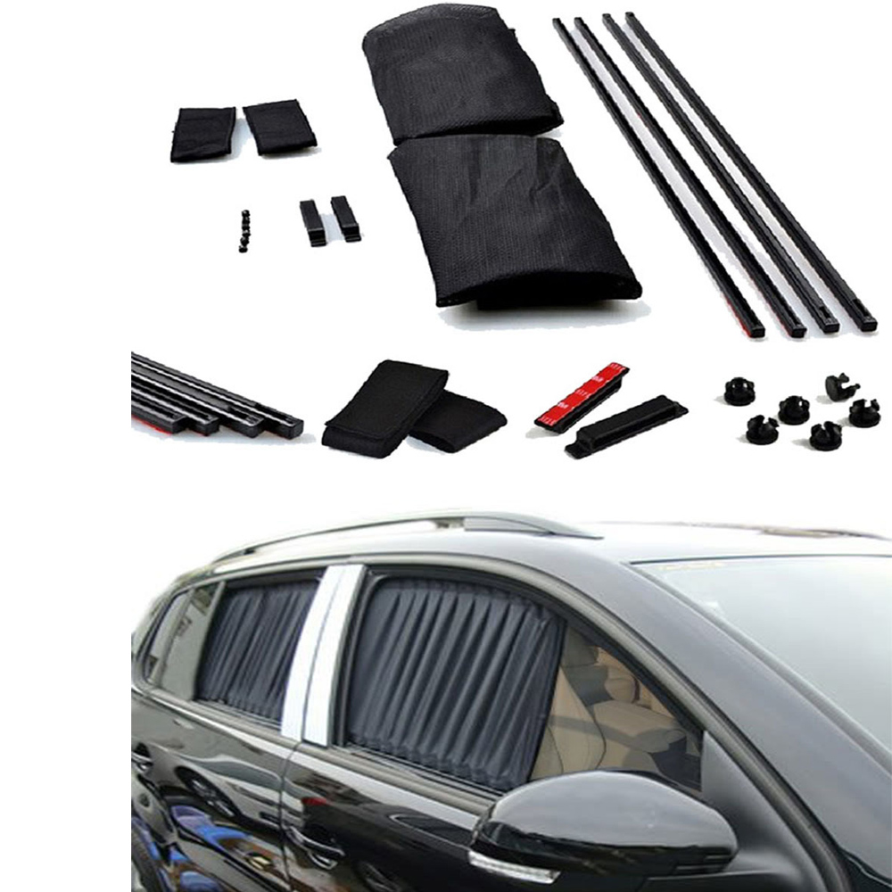 Vip Car Curtains - Aliexpress com buy 2pcs 70 39cm black adjustable vip car window mesh style curtain uv sunshade visor car window sunshade car styling from reliable