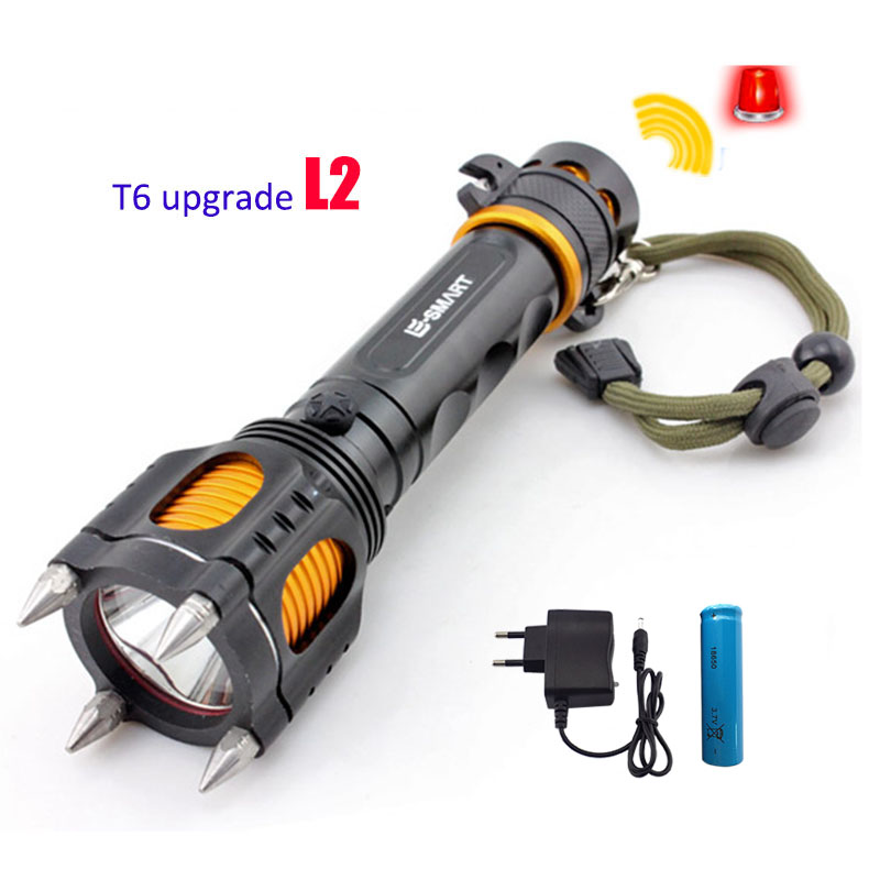 Ultra Bright Xm L2 Tactical Led Flashlight Multi-Function Defensive Flash Light Lampe Torche + 18650 Battery + Ac Charger led xm l2 flashlight 8000lumens tactical flashlight hunting flash light torch lamp 18650 battery charger gun mount