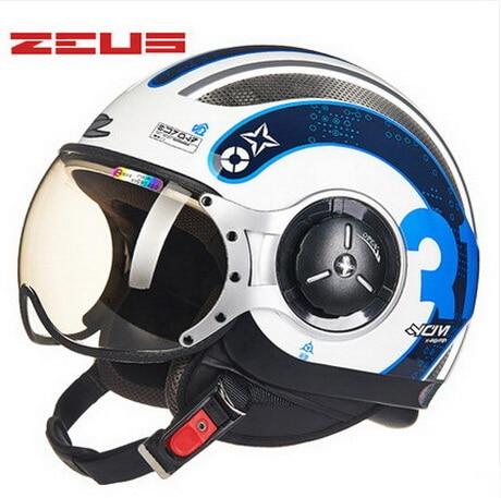 DOT ZEUS ZS-218c half face motorcycle helmet , motorbike moto motocross helmets for women and men scoote dirt bike
