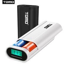 TOMO 18650 şarj cihazı M2 ekran DIY taşınabilir güç kaynağı kılıfı cep telefonları için el feneri