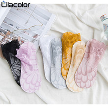 Sexy Lace Women Socks 1 Pair  2019 Spring Summer Mesh Breathable Solid Thin Casual Lady