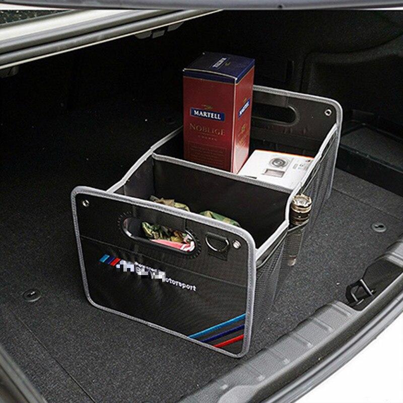 M Logo 25KG Load Car Trunk Box Organizer Toy Food Storage Bag For BMW Z4 GT E90 E60 F10 F22 F30 E70 E87 E92 E91 E89 E64 E85 X6