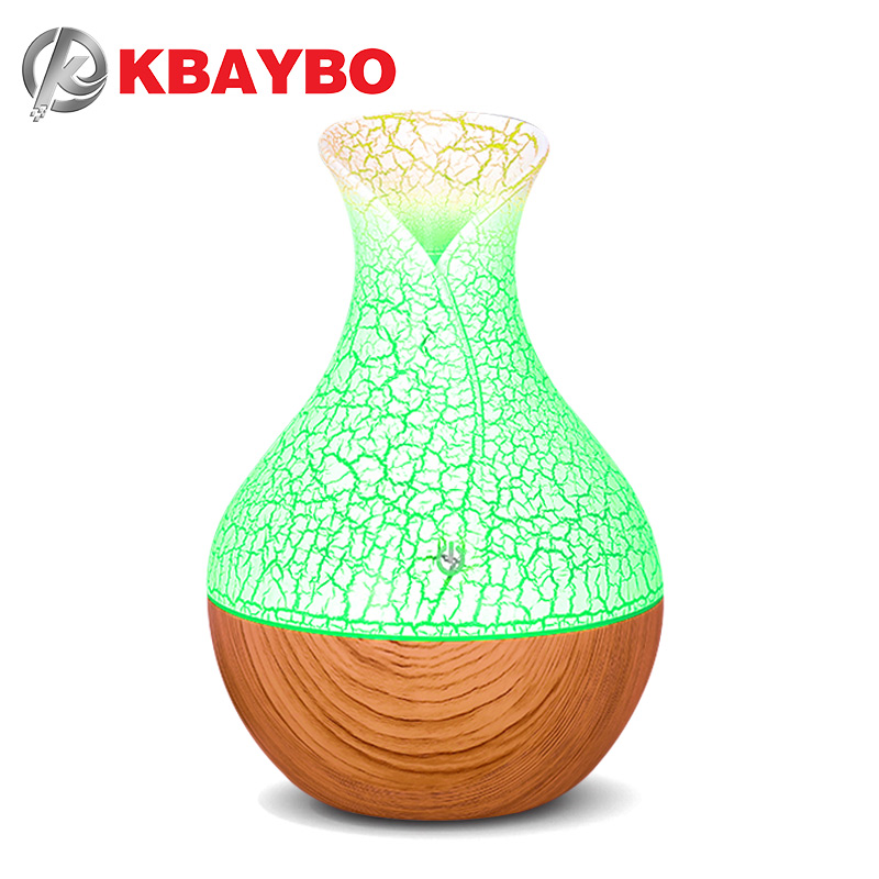 2019 New KBAYBO 130ml Mini USB Air Humidifier Aroma Oil Diffuser Essential Mist Maker Fogger Creative Crackle