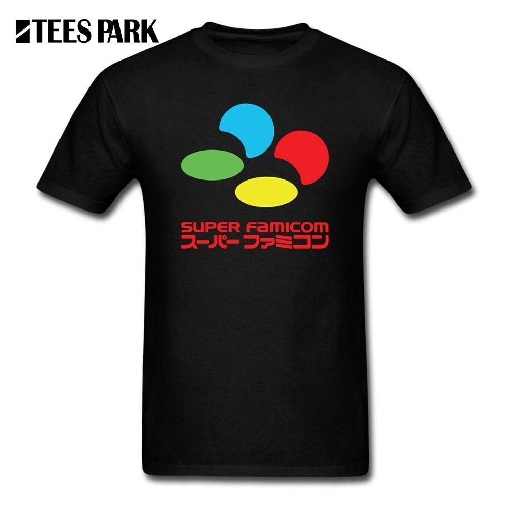 T Chemises Hommes SNES Super Famicom COULEURS T-Shirt pour Hommes Hommes Organnic Coton À Manches Courtes Tshirs La Conception Adolescente T Hommes