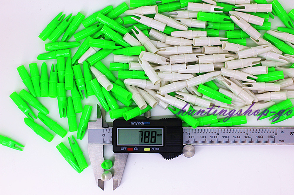 30PCS 화살 양궁 탄소 화살 (4.2mm / 6.2mm / 7.9mm)를위한 3D 최고 플라스틱 nocks 사냥 양궁 양궁 부속품