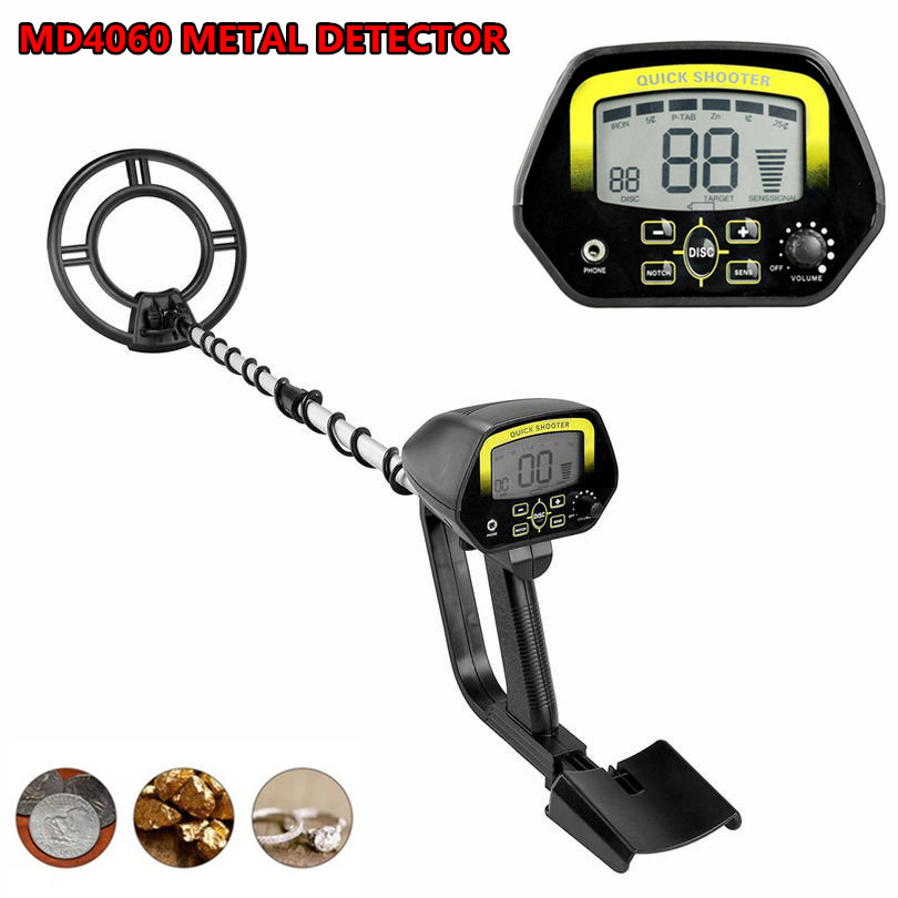 High Sensitivity Upgrade MD4060 Metal Detector Gold Gold Digger Treasure Hunter High Performance Underground Detecting Equipment