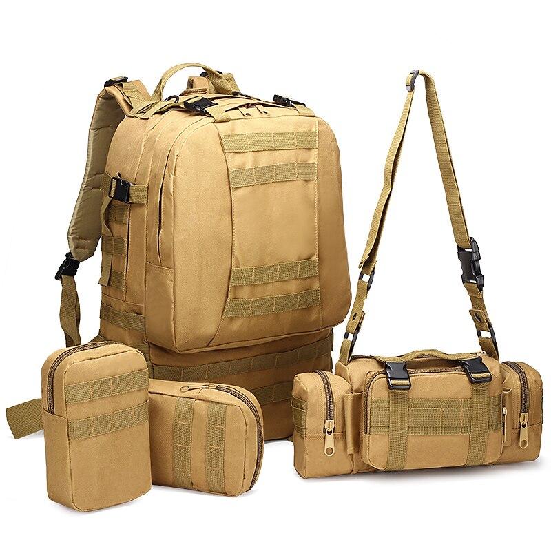 Sacs de sport imperméables 50L combinaison multifonction militaire tactique sac à dos Molle Camouflage Camping escalade sacs - 5