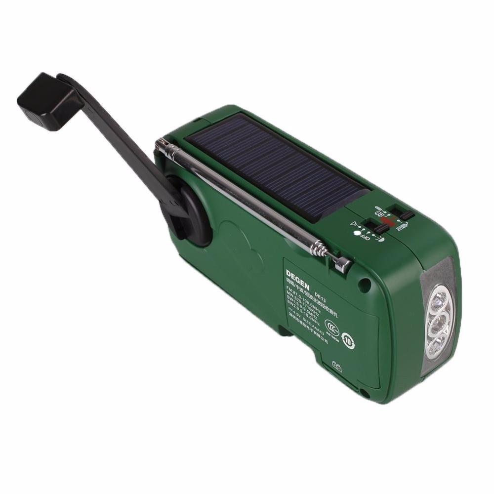 2017 Hot Emergency Hand Crank Dynamo Solar FM/MW/SW Radio Portable mini Radio Flashlight Mobile Phone Charger