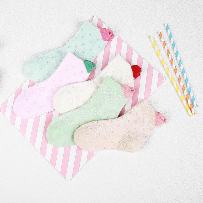 5 Pairs Socks Set Baby Boy Girl Cotton  Candy Colors Socks New Born Infant Toddler Kids Soft Sock