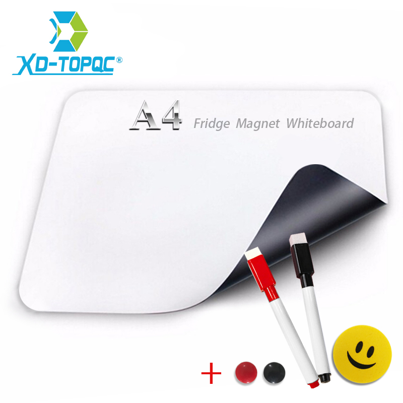 XINDI Flexible Mini Whiteboard Fridge Magnets Soft Message Board Refrigerator Memo Pad Magnetic Notes White Boards Stickers FM03 mexi 10pcs bag round magnetic pin button memo message note whiteboard fridge home office refrigerator parts