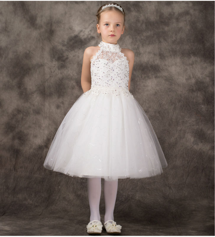 ФОТО 2016 A-Line Flower Girls Dresses For Wedding Gowns Tulle  Party Dress Holy Communion Dresses Communion Gown