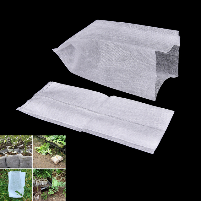 100Pcs/lot 4 Size Biodegradable Plant-Fiber Nursery Pots Seedling-Raising Bags Environmental Protection Non-woven Grow Bag