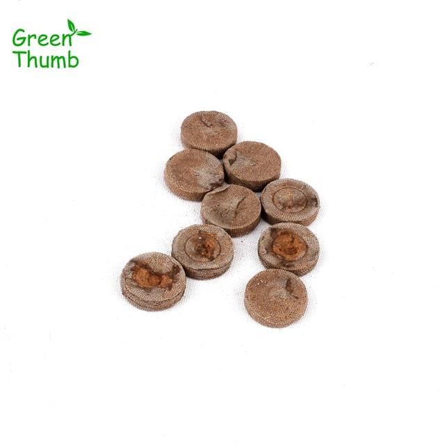 20pcs 25mm Nursery Block Peat Pellets for Garden Flowers Planting Green Thumb Seedling Soil Block for Seedling Cultivation