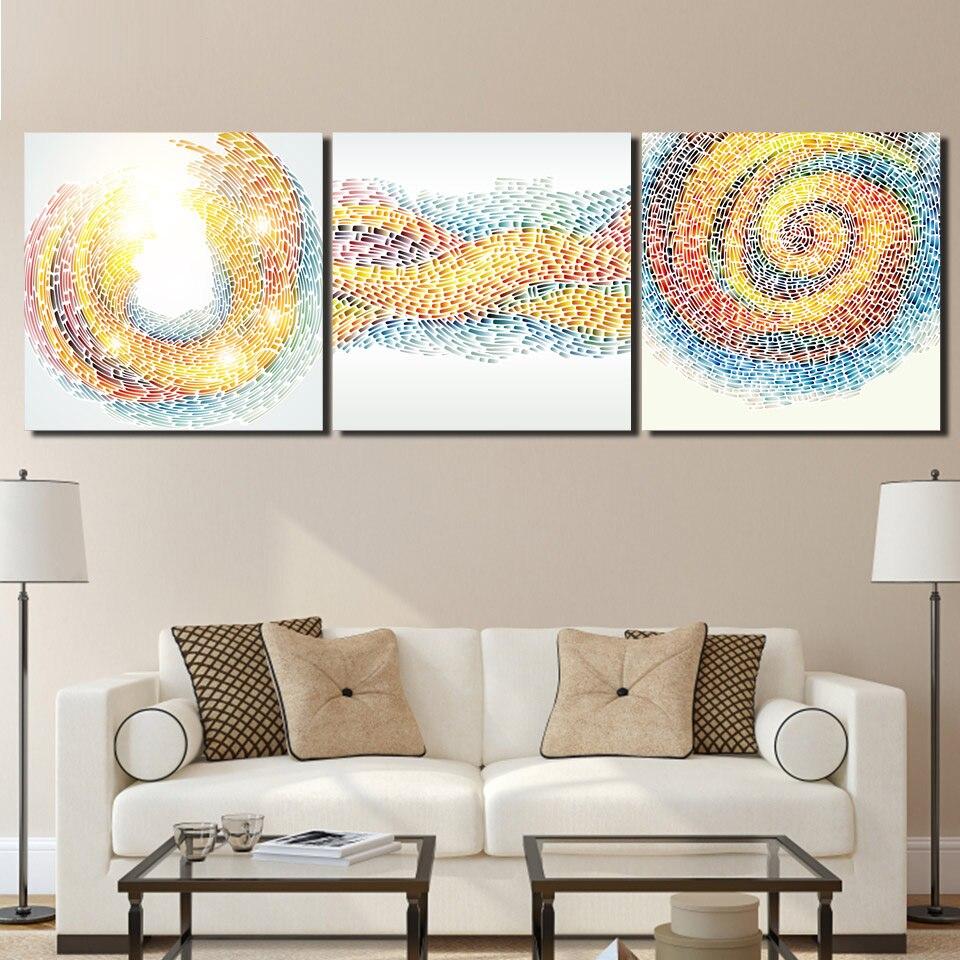 3 Stücke Abstraktes Muster Wand Leinwandbilder Für Wohnzimmer ...